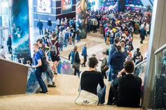 EPICENTRUM MOSKWA Dota 2 cybersport wydarzenie może 13 Krokusa urząd miasta fotografia stock