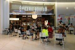 Epicerie Boulud的最新的地点为法国轻的车费&被烘烤的物品服务从丹尼尔Boulud在世界贸易中心Oculus中 免版税库存照片