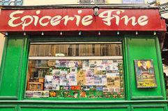 The Epicerie Fine, is a greengrocer in the Montmartre area, which has gained fame since its appearance in the film Amelie, as show Royalty Free Stock Photography