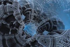 Epicki abstrakcjonistyczny plakat lub tło z fractals Bigscale wizerunek Zdjęcia Stock