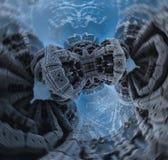Epicki abstrakcjonistyczny plakat lub tło z fractals Bigscale wizerunek Fotografia Stock