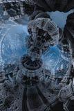 Epicki abstrakcjonistyczny plakat lub tło z fractals Bigscale wizerunek Obraz Royalty Free