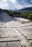 Epidaurus amphitheater in Greece. The antique Epidaurus amphitheater in Peloponnese, Greece stock image