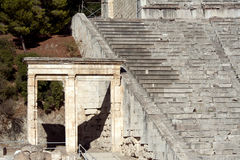 Epidaurus, ancient theater in Greece Royalty Free Stock Image