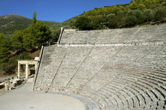 Epidaurus, ancient theater in Greece Stock Photos