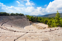 Epidaurus Antyczny Theatre, Grecja zdjęcia royalty free