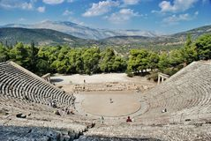 epidaurus greece Royaltyfri Foto