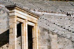 Epidaurus theater. Epidaurus, first and biggest theater in ancient Greece Royalty Free Stock Photos