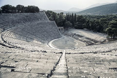 Epidaurusamfitheater in Griekenland Royalty-vrije Stock Afbeelding