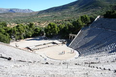 Epidavros - de Peloponnesus - Griekenland Royalty-vrije Stock Afbeelding