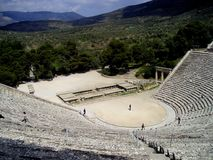 epidavros Theater Stockfotos