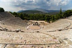 Epidavrus teater arkivbild