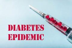 Epidemia, attacchi di cuore e colpi del diabete Tipo 1,2 diabete fotografie stock