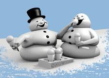 Epidemia da obesidade dos bonecos de neve ilustração royalty free