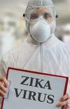 Epidemia de la infección del virus de ZIKA Imágenes de archivo libres de regalías