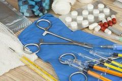 Epidemia di influenza Vaccinazione contro l'epidemia di influenza Fotografia Stock