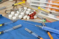 Epidemia di influenza Vaccinazione contro l'epidemia di influenza Fotografia Stock Libera da Diritti