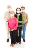 Epidemia - famiglia preoccupata fotografia stock