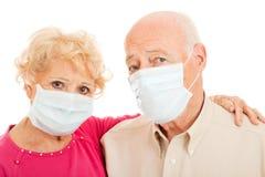 Epidemia - séniores da gripe dos suínos fotos de stock royalty free