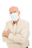 Epidemia - uomo maggiore immagini stock