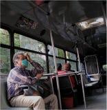 Epidemias en un omnibus en México Foto de archivo libre de regalías