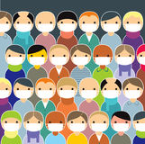 Epidemic. Swine flu concept. Vector illustration Royalty Free Stock Photo