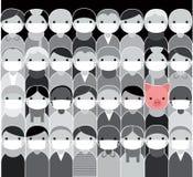 Epidemic. Swine flu concept. Vector illustration Royalty Free Stock Photos