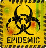 Epidemic alert sign. Epidemic, virus alert sign, vector illustration Stock Photos