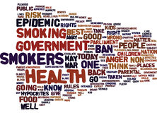 Epidemic Of Anger As Smokers Go To War Word Cloud Concept Royalty Free Stock Photos