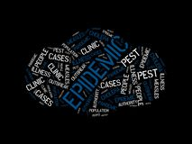 EPIDEMIC - image with words associated with the topic EPIDEMIC, word cloud, cube, letter, image, illustration Royalty Free Stock Photo