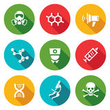 Epidemic protection Icons Set. Vector Illustration. Stock Images