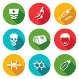 Epidemic protection and medical Icons Set. Vector Illustration. Royalty Free Stock Photography
