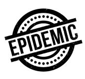Epidemic rubber stamp Royalty Free Stock Images
