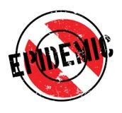 Epidemic rubber stamp Royalty Free Stock Photos