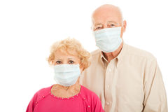 Epidemic - Senior Couple Stock Image