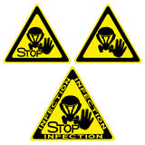 Epidemic signs. Royalty Free Stock Image