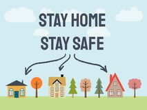 Free Epidemic Stay Home Stock Image - 176803041