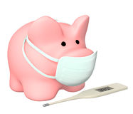 Epidemic of a swine flu Royalty Free Stock Images