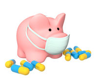 Epidemic of a swine flu. Conceptual image - epidemic of a swine flu Stock Photography