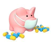 Epidemic of a swine flu Stock Photography