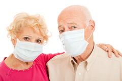 Epidemic - Swine Flu Seniors Royalty Free Stock Photos