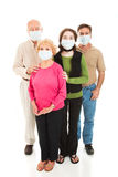 Epidemic - Worried Family Stock Photo