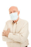 Epidemie - älterer Mann stockbilder