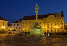 Epidemikolonn på fyrkant för helig Treenighet i Trnava, Slovakien arkivbild