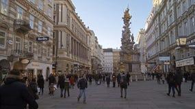 Epidemikolonn Pestsaule i Wien royaltyfria bilder