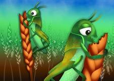 Epidemin av gräshoppor Royaltyfri Foto