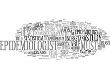 Epidemiology Text Background  Word Cloud Concept Royalty Free Stock Images