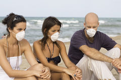 Epidemy on holiday Stock Photo