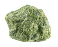 Epidote som isoleras på vit bakgrund För järnsorosilicate för kalcier aluminium mineral Arkivfoton