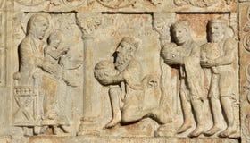Epifanía, la visita Jesus Christ de tres unos de los reyes magos Fotos de archivo libres de regalías